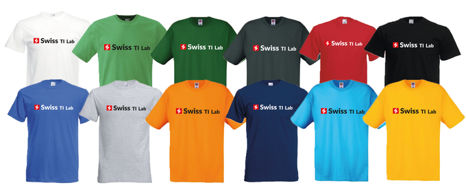T-shirts are available in different colours.