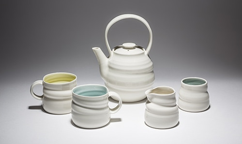 Porcelain Tea Set (3 Mugs included in Reward!)