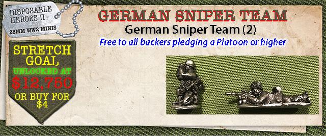 Stretch Goal $12,750 - German Sniper Team