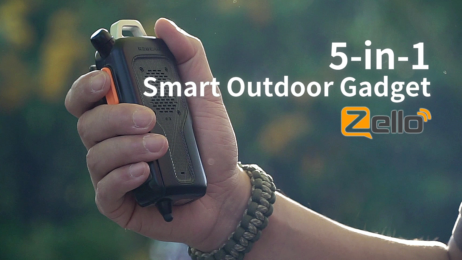 Innovative outdoor gadget has five essential functions for outdoor activities and adventures.