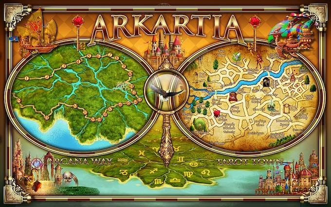 Arkartia and Tarot Town Draft Maps by Ciro Marchetti