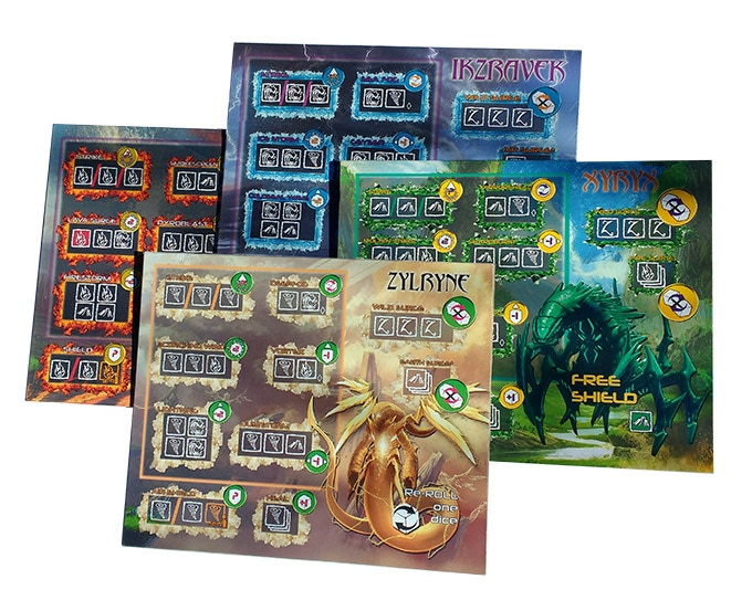 The four alien shaman play boards