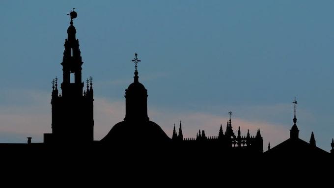 Skyline of the city of Seville (Spain)