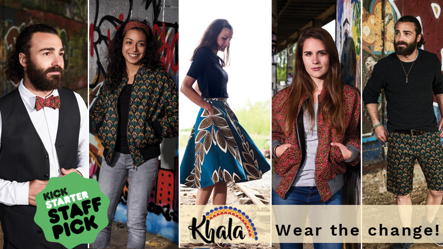 Fair Fashion made of colourful, African fabrics. Produced in cooperation with a design studio in Malawi.