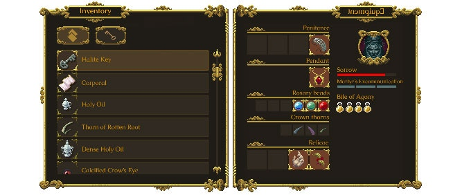 Inventory and player progression