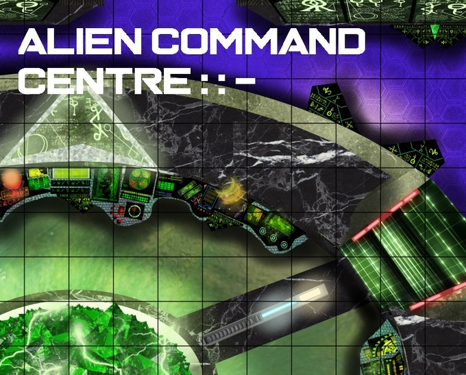 Close-up Section of the Alien Command Centre