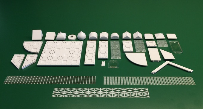 Here are just some of the components & graphic adhesives going into Masterplan and Masterplan Pro. We don't have all of the clear components 3D printed to show you for example. You can also expect additional adhesive graphics of roads, water, grass etc.