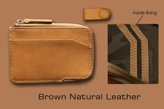 Natural brown leather X-Pocket