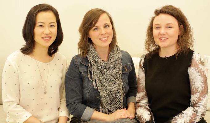 From left: Elena Yugai, Melanie Ewan, Alicia Close