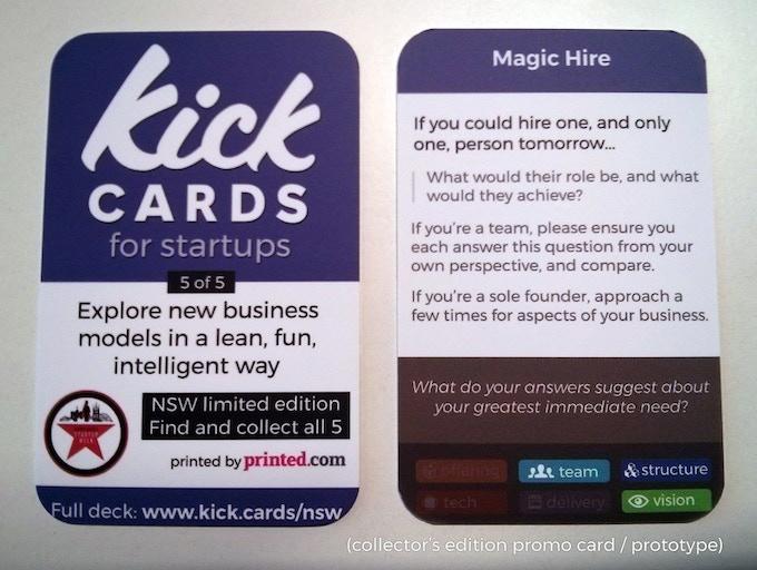 Kick Card promo card / prototype