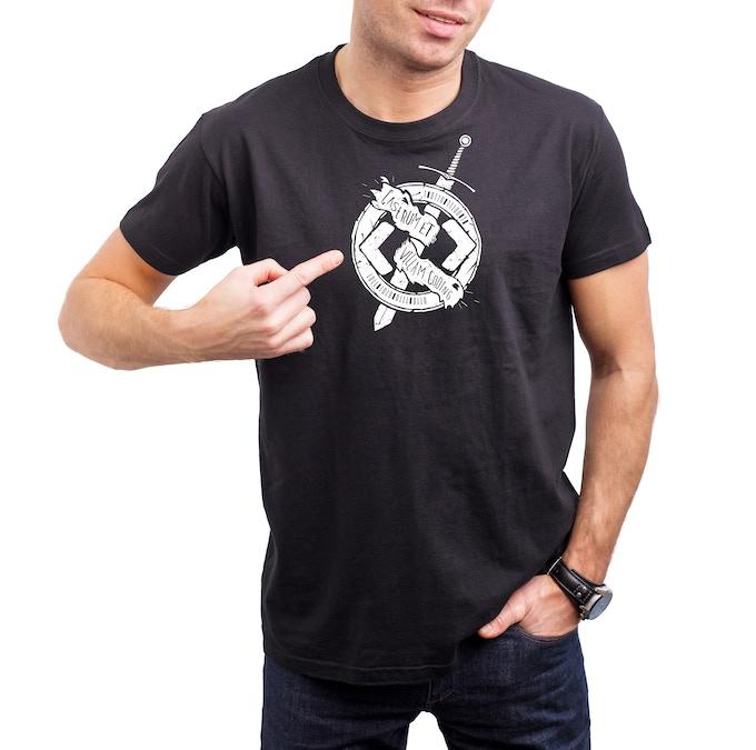 Unisex Black Tee With White Shirt Logo