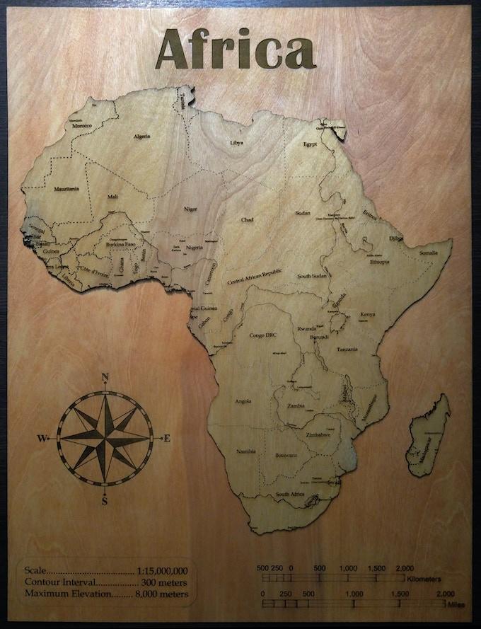 "Africa, 36"" single-layer"