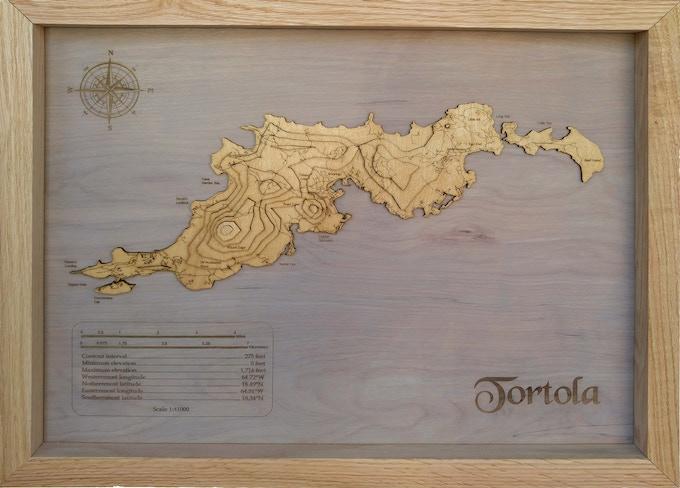 "Tortola, 30"" topgraphical"