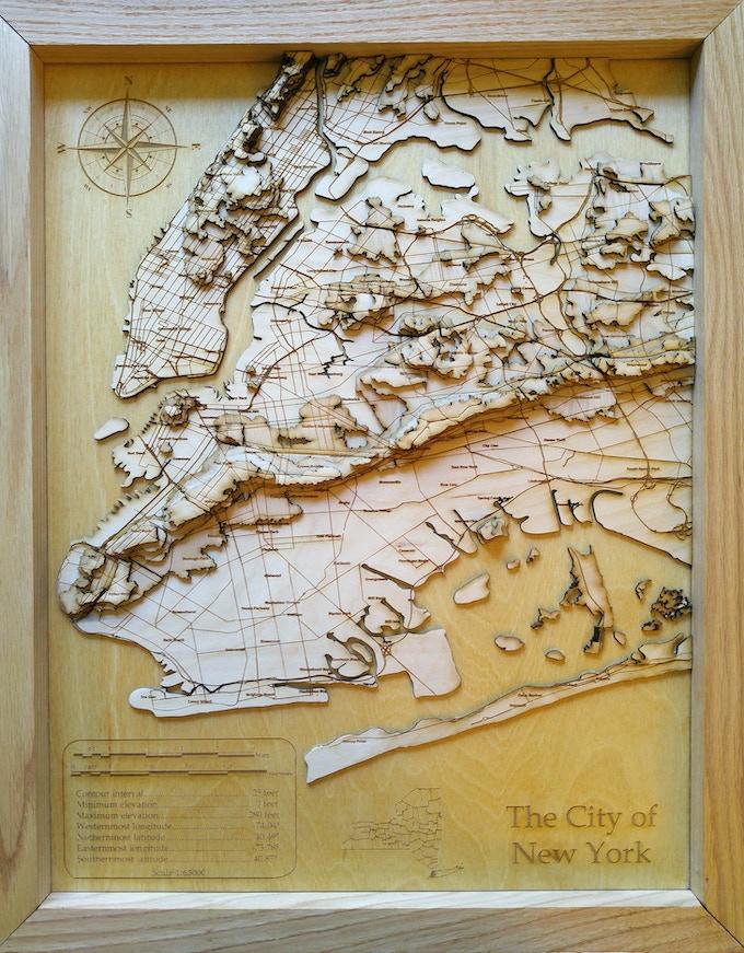 "New York City, 30"" topographical"
