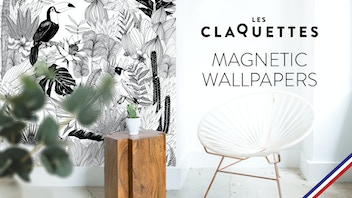 Easy and interchangeable : magnetic wallpaper