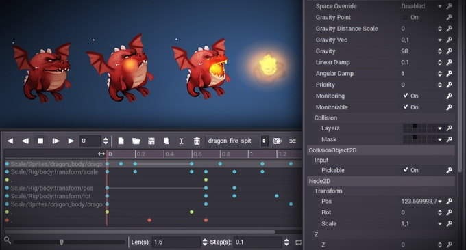 Godot has everything you need to create great 2d games