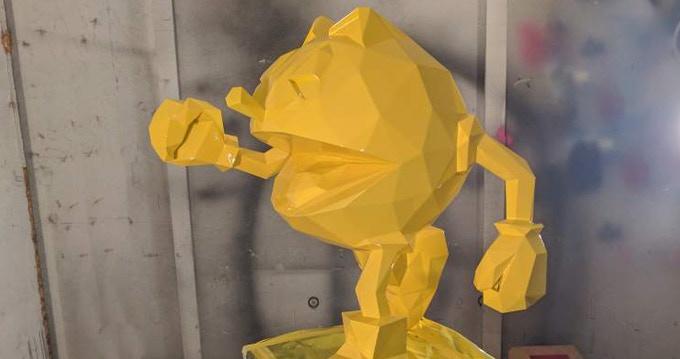 Prototype freshly painted, yellow glossy finish