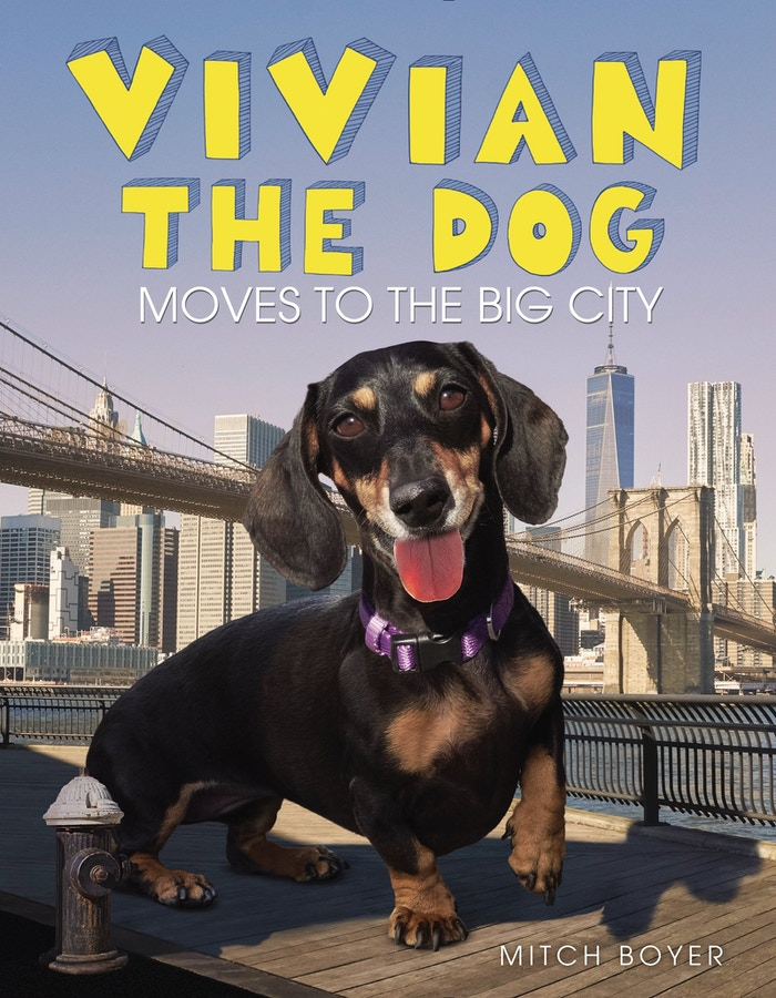 "A children's book about a big dog moving to the ""big city,"" made to  help kids (and adults) deal with giant-sized changes."