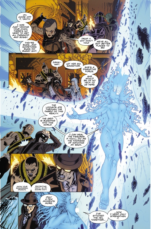 Page 10 - Warlock 5 Artwork by Jeffrey Edwards & Andy Poole