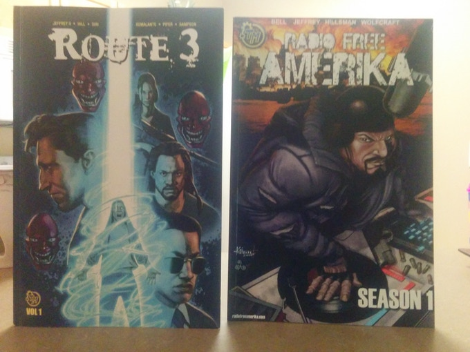 For the 75.00 donation level you can get both Route 3: Vol. 1, and Radio Free Amerika: Season 1