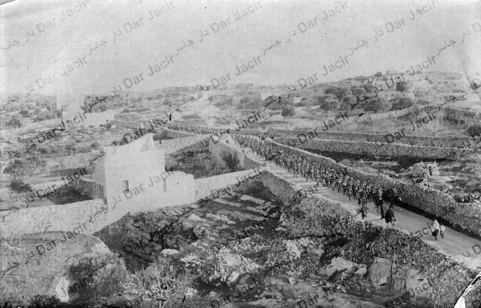 View from Dar Jacir of the Jerusalem- Hebron Road and Rachel's Tomb, circa 1905