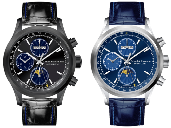 Final Dial Designs Black and Blue Moon