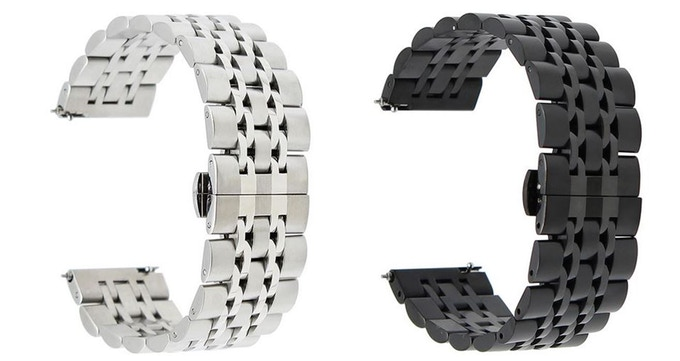 Stainless Steel and Black PVD Bracelet
