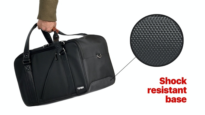 A waterproof and shock resistant base to protect your belongings through all your adventures.