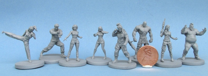 Miniatures are 32mm on average, compatible with your favorite board games!