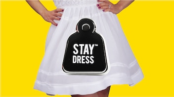 STAY DRESS - wearable, reusable & weighted pins for dresses