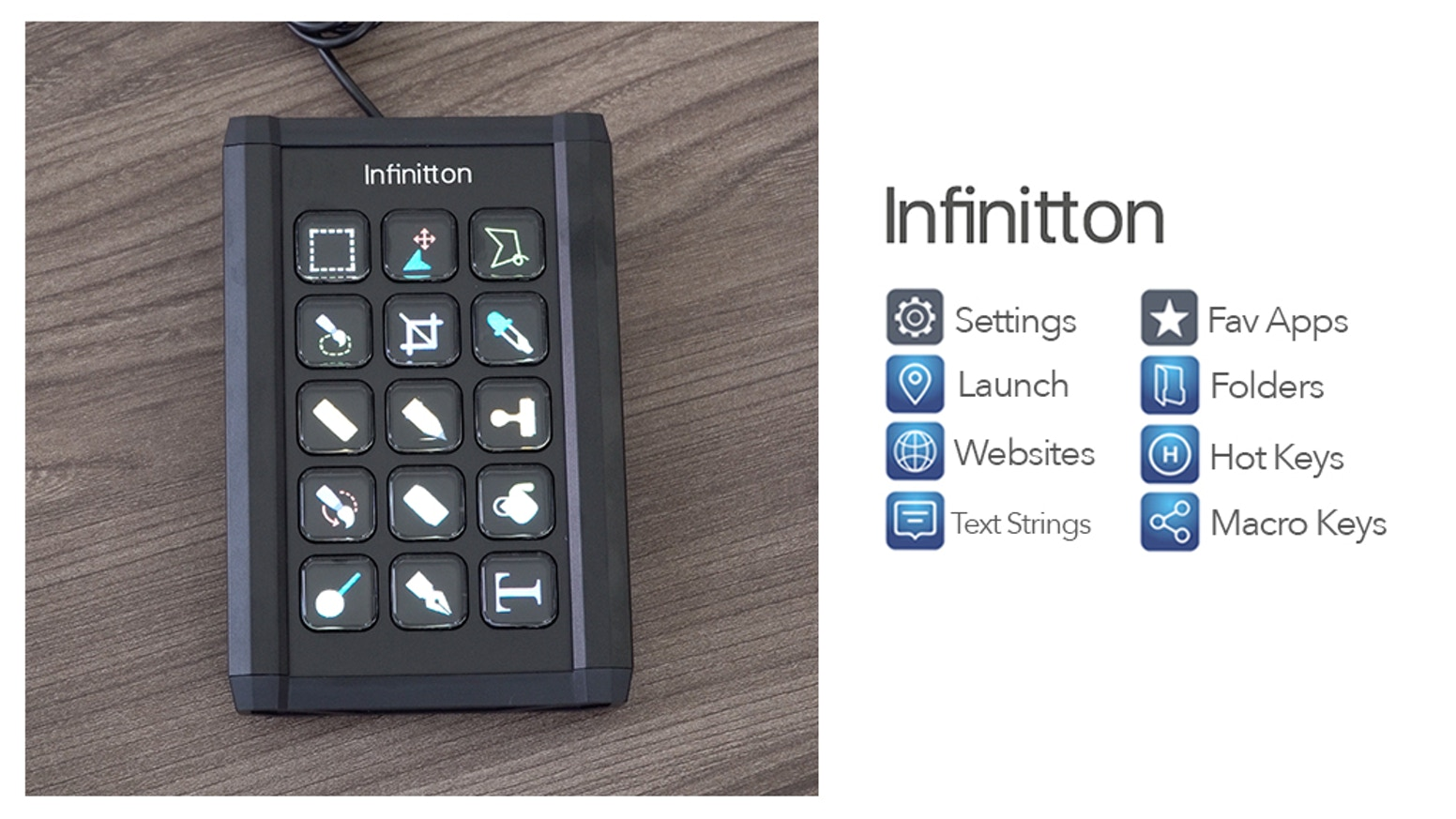 The moment you use infinitton, you know you've never felt anything like it. With a single press, infinitton lets you do more than ever before.