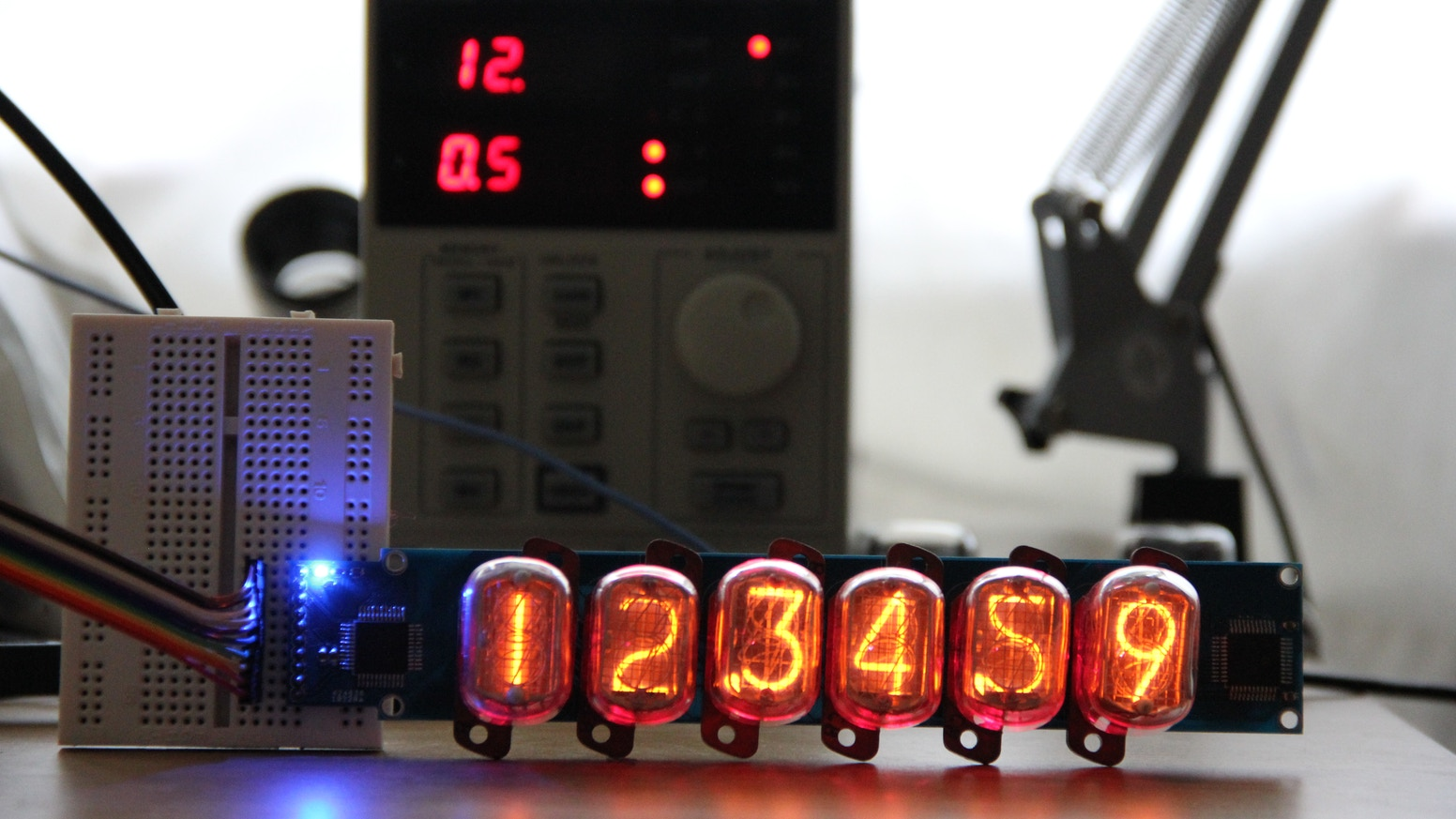 A simple way to implement a 6-digit RGB backlit Nixie Tube display into any project, with an accompanying Arduino library.
