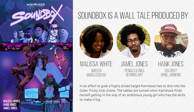 Soundbox is currently still running at KamikazeComic.com!