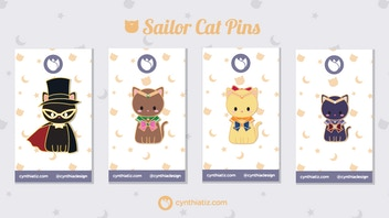 Sailor Cat Hard Enamel Pins