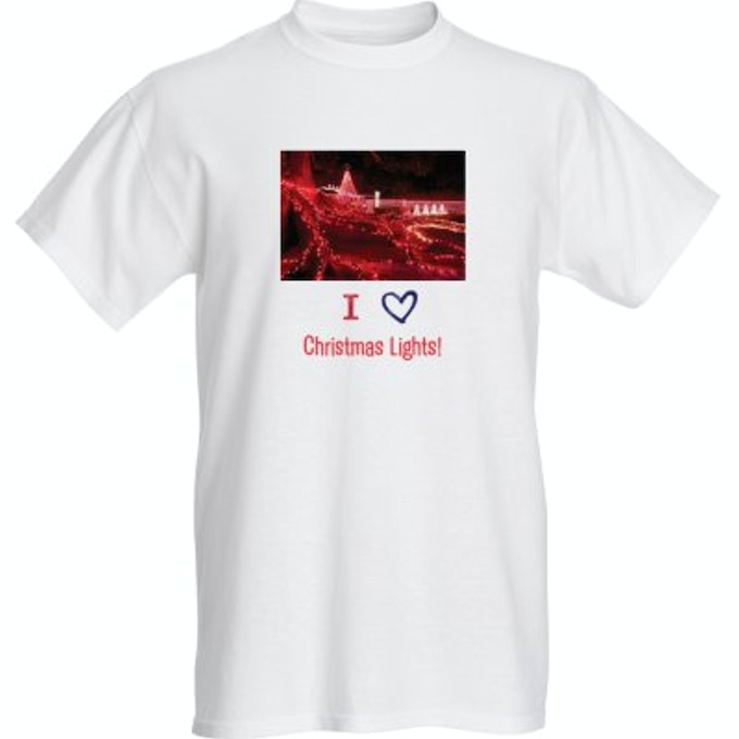 "Over The Top Christmas Lights T-Shirt Style ""A"""