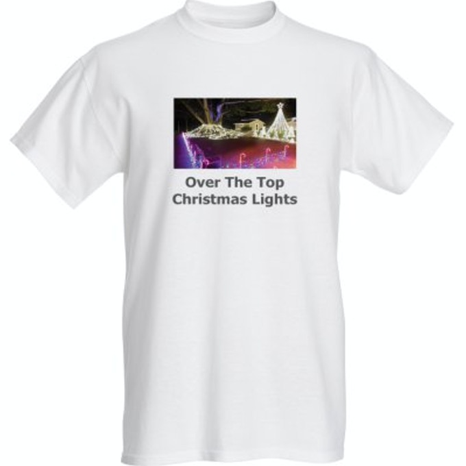 "Over The Top Christmas Lights T-Shirt Style ""C"""