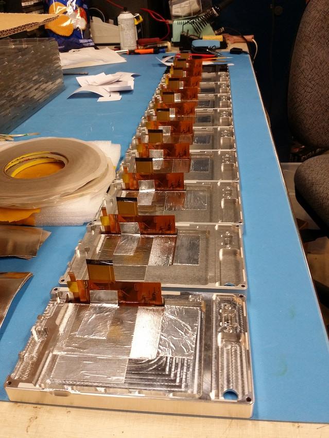 EMI shielding tape installed