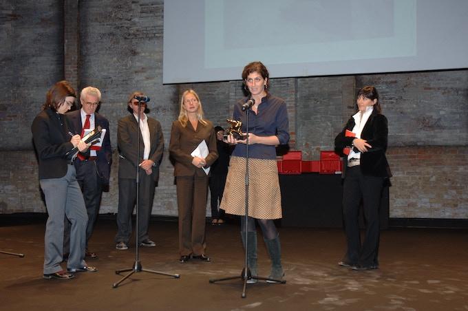 Emily being awarded a Golden Lion at the 52nd Venice Biennale. © La Biennale di Venezia, ASAC, Fototeca, foto Giorgio Zucchiatti