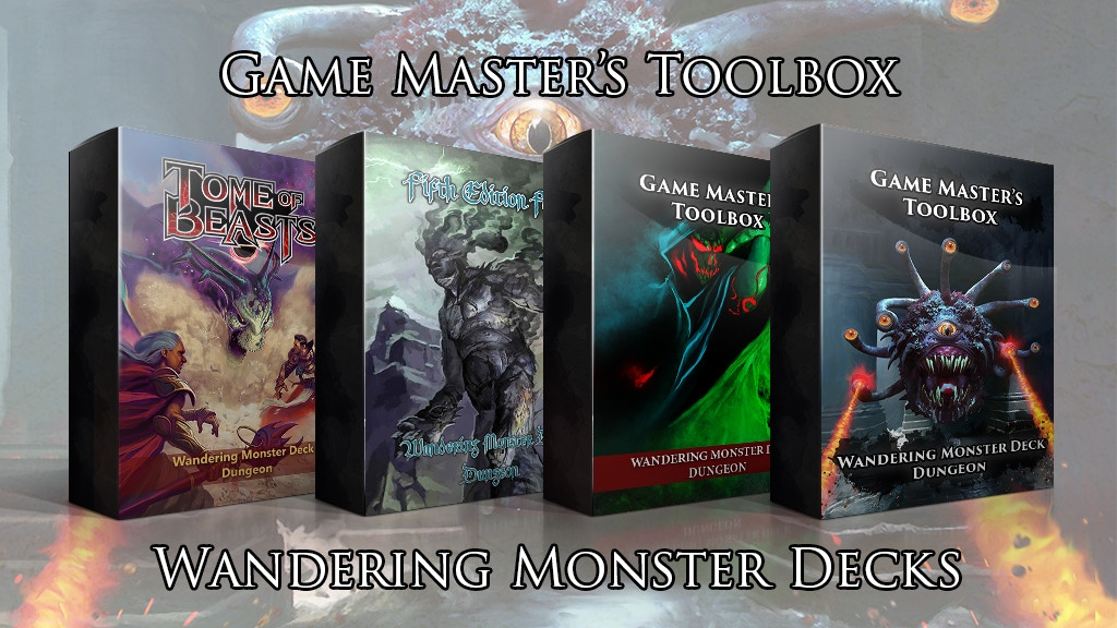 Wandering Monster Decks for 5E and Pathfinder! Only $12! project video thumbnail
