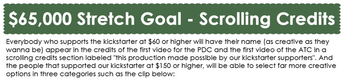 $65,000 Stretch Goal