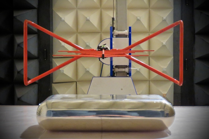 Blok during the tests in the anechoic chamber