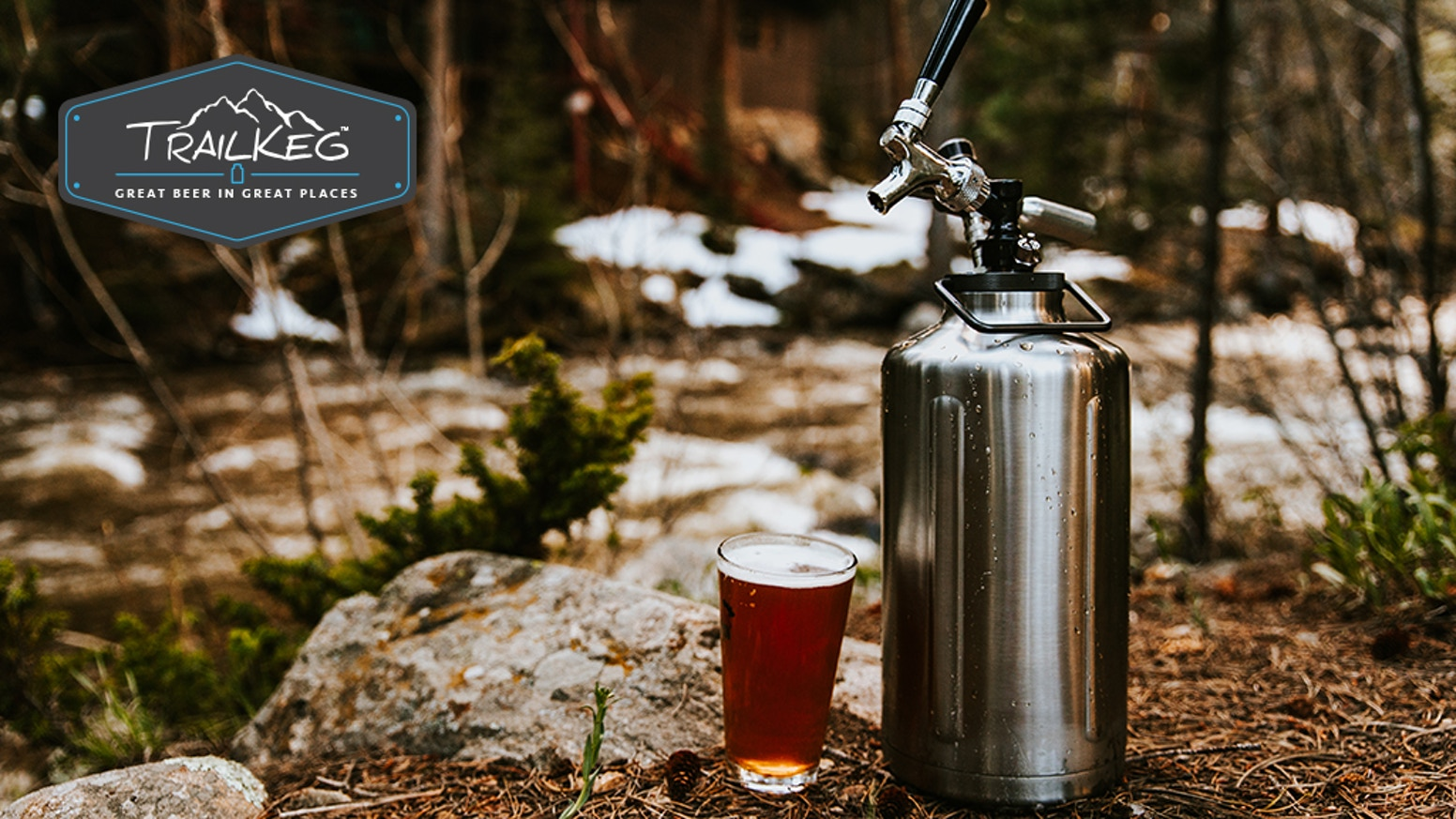 Enjoy craft beer and homebrew, cold and carbonated, anywhere! Introducing the Trailkeg gallon.