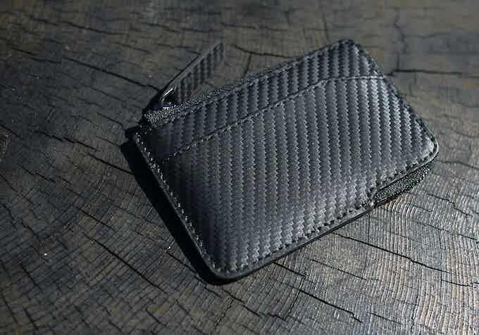 Carbon Fiber full-grain leather X-Pocket wallet