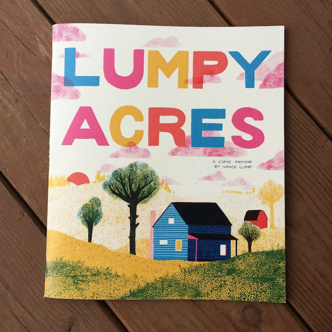 The cover of the Lumpy Acres prototype
