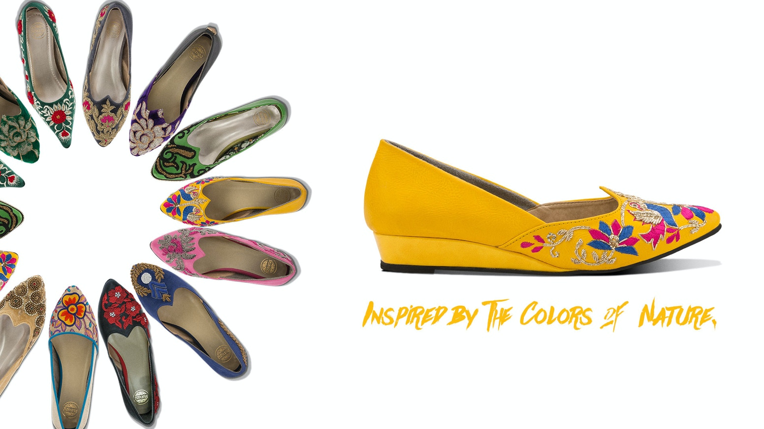42e685d87b8 The first bold, colorful, comfortable & hand-embroidered women shoes made  on 100