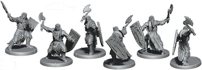 An example of how the unit will look in miniature form. This is Aanan, Gultain of Baalor, the champion of the Shieldwall Warriors of Baalor Unit - digitally sculpted by Bob Płociennik