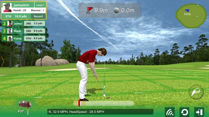 You can even play a virtual round with your friends