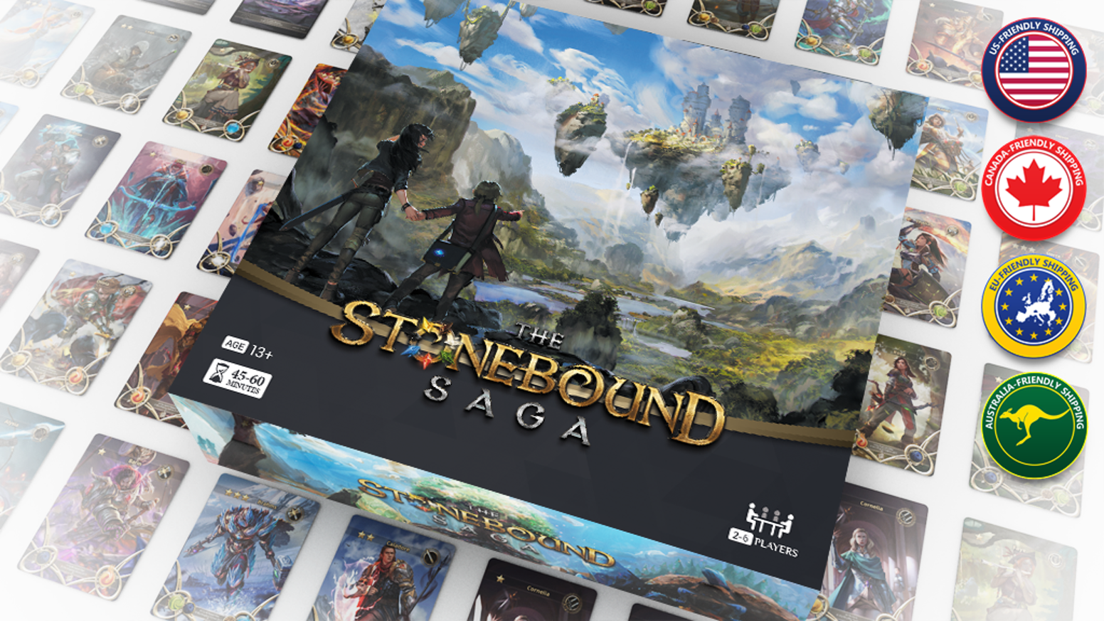 A high fantasy themed strategic card game with unit positioning, resource management, and high replay value for 2-6 players.