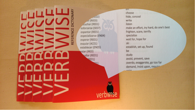 The Verbwise mini reference dictionary contains nearly 500 Spanish to English verb translations