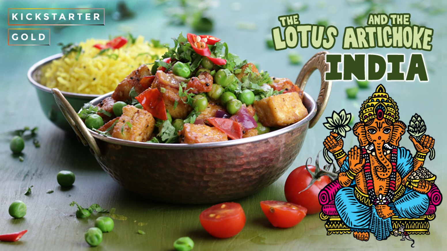 The lotus and the artichoke india vegan cookbook by justin p kickstarter gold a culinary love story with 90 vegan recipes inspired by my forumfinder Choice Image
